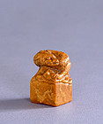 Soapstone Seal with Dragon Finial