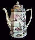 Japanese export porcelain chocolate pot hand painted