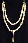 Antique Tibetan Buddhist Nun Conch Shell Prayer Beads