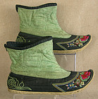 Chinese Miao Ethnic Minority Embroidered short boots