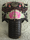 Antique Chinese embroidered child wind hat