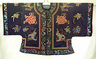 Antique Chinese silk embroidered short jacket