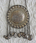 Antique Chinese Ethnic Minority Silver Necklace