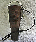 Antique Burmese hunters knife sheath basket