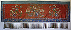 Large Antique Chinese silk embroidered alter cloth