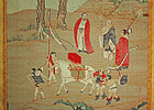 Antique Chinese Kossu textile scroll of famous painting