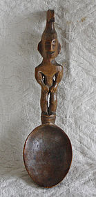 Pacific Islands Antique carved wooden spoon
