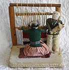 Childs Navajo toy family of dolls weaving toy