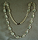 Chinese export large ivory bead necklace