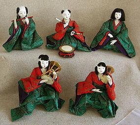 Meiji Girls Day Hina Dolls set of 5 small musicians
