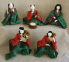 Meiji Girls Day Hina Dolls set of 5 small musicians