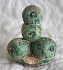 Antique Chinese agricultural field marker talisman