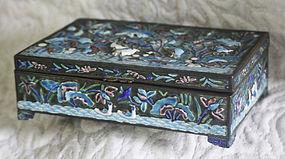 unusually fine Qing Dynasty antique Chinese enamel box