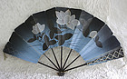 Antique Japanese paper folding  fan early Meiji late Edo