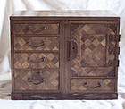 Meiji Period Antique Japanese Parquet lady's Jewelry dressing box