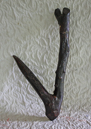 Antique Japanese hand carved wooden hook Jizai Kagi