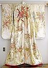 Uchikake Hand-painted Silk Japanese Wedding Kimono