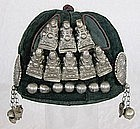 Chinese Ethnic Minority child's hat w/silver ornaments