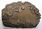 Large Chinese Ink stone Carved with Dragons