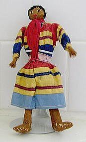 American Seminole Indian rare male doll