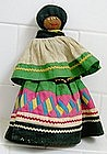 Seminole Indian Doll with traditional patch work skirt
