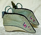 Pair of Chinese Lotus shoes for bound feet