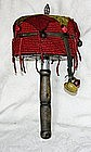 Antique Tibetan Prayer Wheel with coral beads