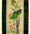Antique Chinese embroidery panel needlepoint tapestry