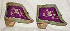 Antique Chinese silk embroidered Lotus Shoes  boot