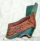 Antique Chinese Small Silk Lotus Shoe for Bound Feet