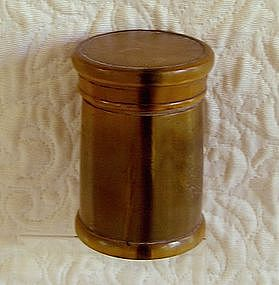 Rare Antique Chinese lidded container horn