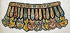 Antique Chinese Silk Embroidered Cloud Collar