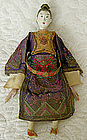 Antique Chinese Female Opera Doll Silk Embroidered