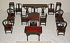 Large Boxed set of Chinese miniature furniture