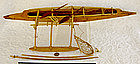 Polynesian ocean fishing Outrigger Canoe folk art Model
