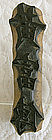 antique Chinese carved wooden signature seal chop