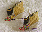 Antique Chinese  embroidered pair of Lotus Shoes