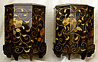 Matched Pair of Large Japanese Lacquer Storage Boxes