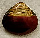 Japanese Wakasa lacquer clam shell