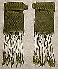 Antique Chinese silk sashes for lotus shoe leggings