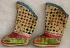 Chinese Ethnic Minority Miao Toddlers embroidered boots