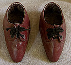 Pair of Chinese leather Lotus Shoes for bound feet