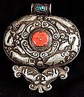Large Antique Tibetan Gau aka, Prayer Box or Amulet