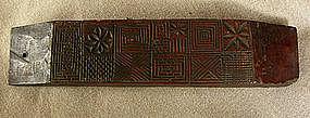 Antique Korean carved woodblock textile stencil