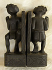 Pair of Igorot hand carved hardwood bookends