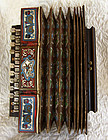 Antique European folk musical instrument Accordion