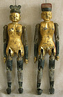 Antique Chinese Male and Female Wooden fertility dolls
