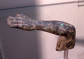AN ANCIENT ROMAN BRONZE ARM