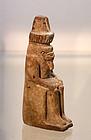 AN ANCIENT EGYPTIAN FAIENCE NEFERTUM