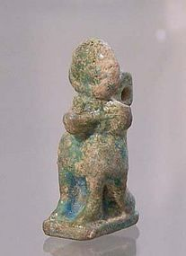 AN ANCIENT EGYPTIAN BABOON AMULET